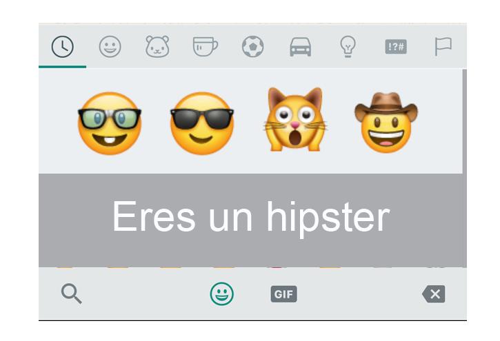 hipster personalidad whastapp